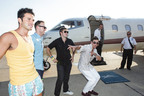 General Snus Jet/Set/Go! Dallas Winners Jason Moore, Brandon Olds, Bobby Jones and Gustavo Geraldes prepare for take off to Las Vegas.  (PRNewsFoto/Swedish Match)