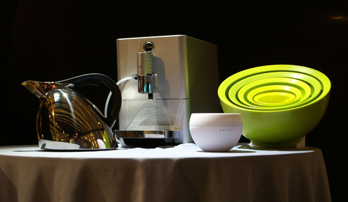 "2013 Housewares Design Awards Winners (from left to right): ""Best of the Best - Gold"" - Nambe Chirp ..."