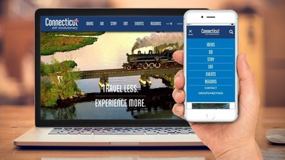 The all-new CTvisit.com homepage and menu.