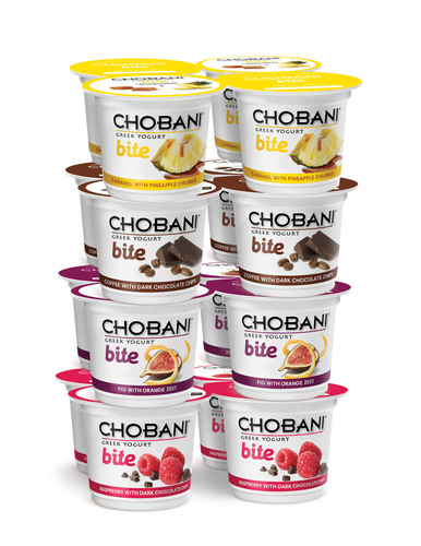 Made with authentic strained Greek yogurt and only natural ingredients, Chobani Bite is a crave-worthy snack you can sink your teeth into. (PRNewsFoto/Chobani)
