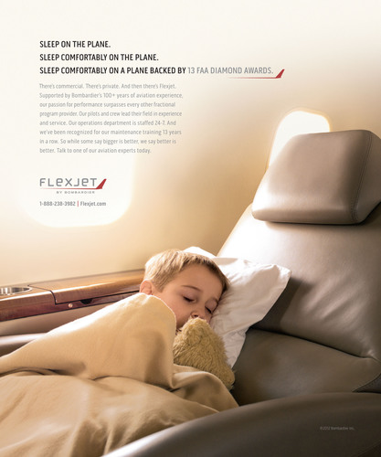 Flexjet, a leader in business aviation solutions, is launching a new brand campaign on May 1, designed to spotlight the company's world-class personalized service and unrivaled scheduling flexibility, while leveraging its unique passion and expertise that come with Bombardier's 100-plus years of aviation heritage.  (PRNewsFoto/Flexjet)