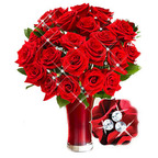 Roses are a traditional romantic gift on Women's Day.  (PRNewsFoto/GiftBasketsOverseas.com)