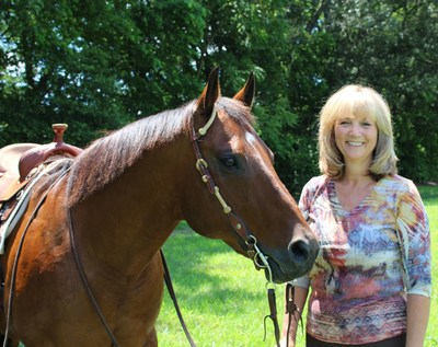 At home with Kim Blanton and her horse, Tank