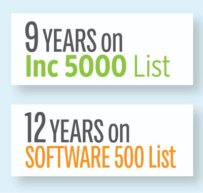 Continued long-term growth has secured Datacert Inc. spots on key peer benchmarking lists, the Inc. 5000 and Software 500, year after year.  (PRNewsFoto/Datacert, Inc.)
