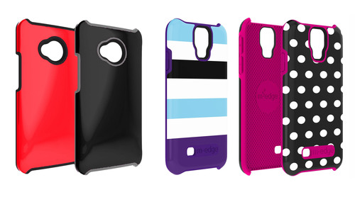 Unveiling their debut line of accessories for Android smartphones, M-Edge announced today they will have cases for the Samsung Galaxy S4 and HTC One hitting stores in April.  (PRNewsFoto/M-Edge)