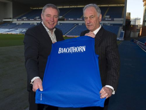 Blackthorn Cider Announced as Rangers Shirt Sponsor (PRNewsFoto/Blackthorn Cider)