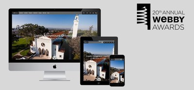 Loyola Marymount University has been honored for Best University/School Website in the 20th annual Webby Awards.