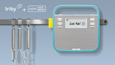 The Alexa-enabled Triby - a voice activated digital assistant, Internet radio, connected speaker, hands-free speakerphone, and connected message board all rolled into one.