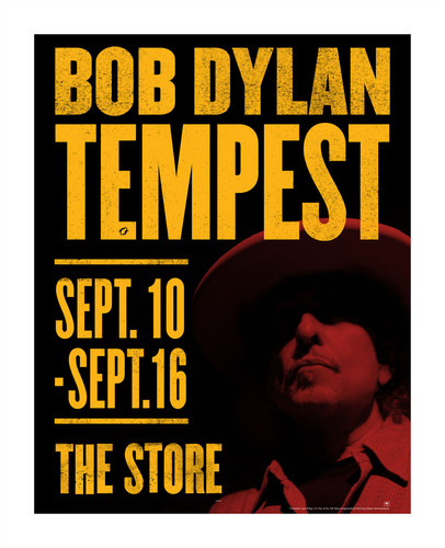New Bob Dylan Album, Tempest, Coming September 11.  Tempest Pop-Up Stores Opening In New York, London and Los ...