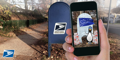 Postal Service transforms iconic blue mailboxes into a holiday mobile experience using augmented reality