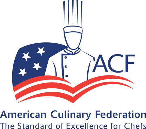 The American Culinary Federation, Inc. (ACF), established in 1929, is the premier professional organization for culinarians in North America. With more than 20,000 members spanning 200 chapters nationwide, ACF is the culinary leader in offering educational resources, training, apprenticeship and programmatic accreditation. In addition, ACF operates the most comprehensive certification program for chefs in the U.S. ACF is home to ACF Culinary Team USA, the official representative for the U.S. in international culinary competitions, and the Chef & Child Foundation to promote proper childhood nutrition. Learn more at  www.acfchefs.org and find ACF on Facebook at  www.facebook.com/ACFChefs and Twitter @ACFChefs. (PRNewsFoto/American Culinary Federation) (PRNewsFoto/AMERICAN CULINARY FEDERATION)