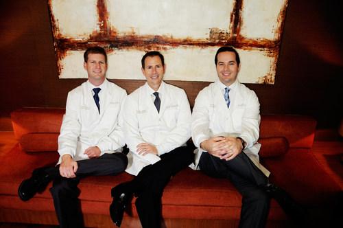 Dr. John McFarlane, Dr. Bruce Hartley, and Dr. Joseph Field (PRNewsFoto/Peninsula Center of Cosmetic...)