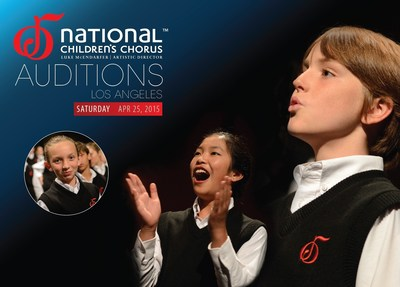 The National Children's Chorus, America's Leading Youth Choral Institution, is Holding Auditions in Los Angeles for the 2015/16 Performance Season