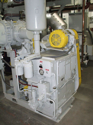 Metallurgical High Vacuum HD300 Survivor(TM) pumps down the furnace from atmosphere and its pressurized oil system includes filtration to extend service life by eliminating the contaminants and acid.  (PRNewsFoto/Metallurgical High Vacuum Corporation)