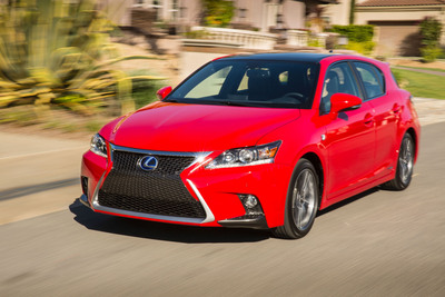 2014 Lexus CT 200h sports aggressive new design direction with added fuel savings.  (PRNewsFoto/Lexus)