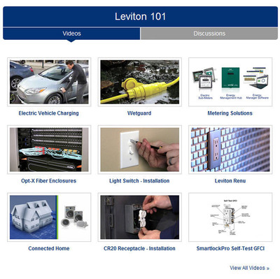 """Leviton 101"" is a new educational platform offering training videos and information from Leviton experts, plus collaborative discussion forums."