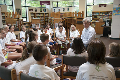 Steve Sasson, National Inventors Hall of Fame Inductee and inventor of the digital camera, teaches kids at Camp Invention.
