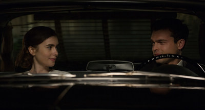 Lily Collins and Alden Ehrenreich in RULES DON'T APPLY, the Opening Night World Premiere of AFI FEST 2016 Presented by Audi