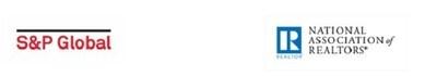 National Association of Realtors / S&P Global logos
