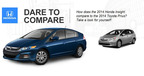 Although they share similar capabilities, the Honda Insight is priced much lower than the Toyota Prius.  (PRNewsFoto/Benson Honda)