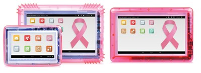 For inmates, the pink-colored tablet and cases are tangible representations of their passion for the cause, something they own and use every day, not just a simple receipt from a monetary donation.  It means something more.