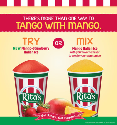 Rita's Italian Ice introduces Mango Strawberry Italian Ice! (PRNewsFoto/Rita's Italian Ice)
