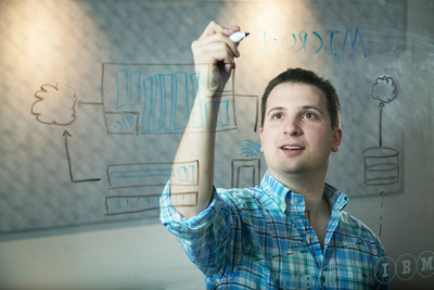 IBM topped the annual list of U.S. patent recipients in 2015, receiving 7,355 patents during the company's 23rd consecutive year of leadership. 23 year-old inventor, Jeremy Greenberger (pictured), contributed new patent applications in 2015 to advance the future of cognitive, cloud and Internet of Things. (Photo Credit: Jared Lazarus/Feature Photo Service for IBM)