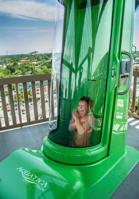 At nearly 80 feet tall, Ihu's Breakaway Falls is where you'll face your fears and each other.  Step into one of three breakaway boxes or test your bravery open slide, but just as thrilling. You'll never know who's going to breakaway first - and the anticipation of who drops next is part of the wild ride! (PRNewsFoto/Aquatica, SeaWorld's Waterpark)