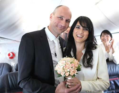Wedding Above the Clouds on Turkish Airlines Flight (PRNewsFoto/Turkish Airlines Inc_)