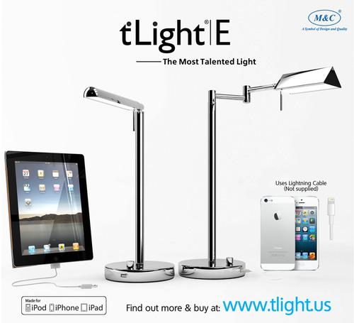 Des lampes de bureau à DEL permettant de recharger les téléphones mobiles