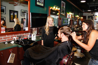 Quarterback Ryan Tannehill sports a neat and sharp look using the new AXE Hair White Label Cooling Style Cream on January 27, 2015 in Phoenix, Arizona. Tannehill is showing how easy it is to get the style in Phoenix all week long for donations to his charity.