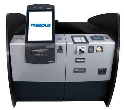 Diebold's Opteva(R) Branch Performance Series(TM) is a new family of terminals designed to help financial institutions improve operations and enhance customer relationships. The in-lobby teller terminals migrate transactions to a self-service device within the branch, reducing the costs associated with completing routine transactions at the teller line. This allows financial institution employees to spend more time interacting with customers for value-added transactions.  (PRNewsFoto/Diebold, Incorporated)