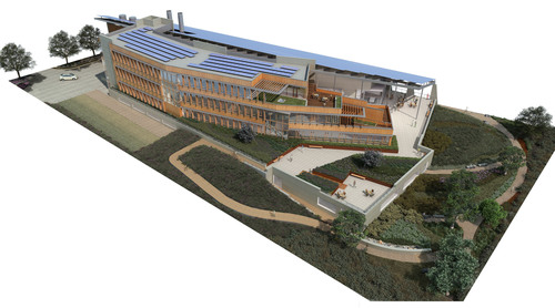 Rendering of the new J. Craig Venter Institute Sustainable Laboratory in La Jolla, CA.  (PRNewsFoto/J. Craig Venter Institute)