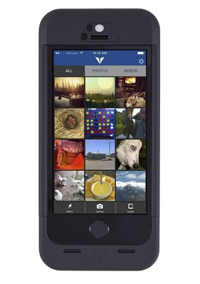 Vysk EP1 Privacy Charging Case with encrypted photo gallery app (PRNewsFoto/Vysk Communications)