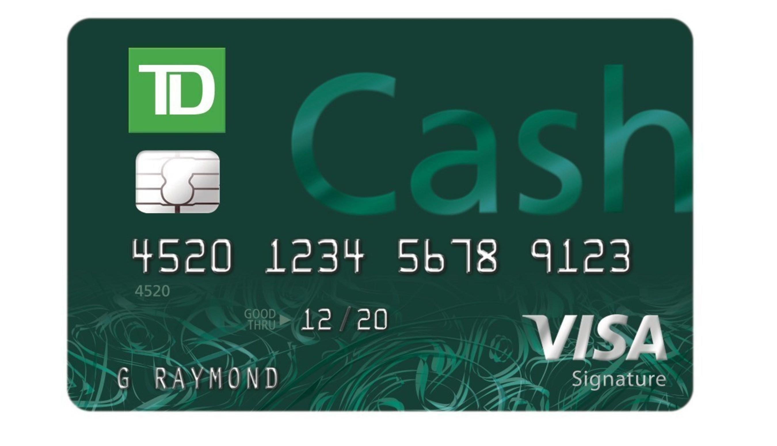 Td bank launches new cash rewards credit card td cash visa signature credit card reheart Gallery