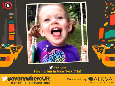 Sample image from the #everywhereUR campaign.  (PRNewsFoto/Outdoor Advertising Association of America (OAAA))