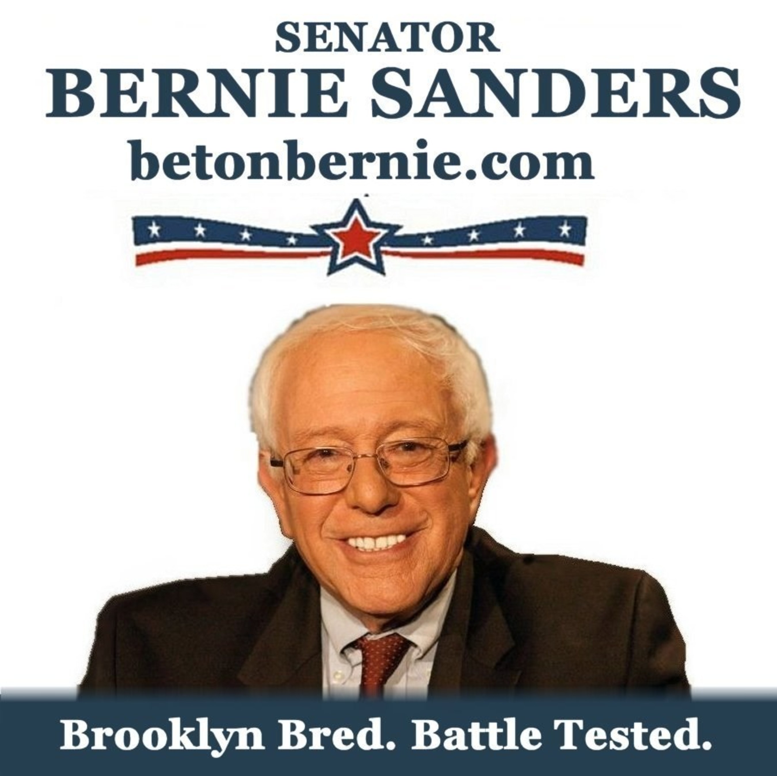 BETONBERNIE.COM: Sen. Bernie Sanders for president. Born & bred in Brooklyn. 30+ years in Congress, not a flaw. The world is ours. GO VOTE!