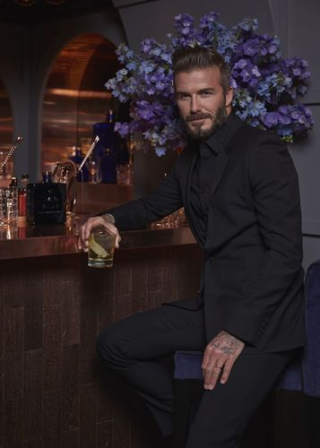 David Beckham hosts the launch of HAIG CLUB London at the iconic English Heritage site, Wellington Arch (PRNewsFoto/HAIG CLUB and Diageo)