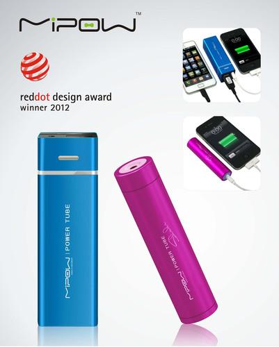 MiPow Power Tube 5500 & Power Tube Shake 2600 Awarded the 'red dot award: product design 2012'