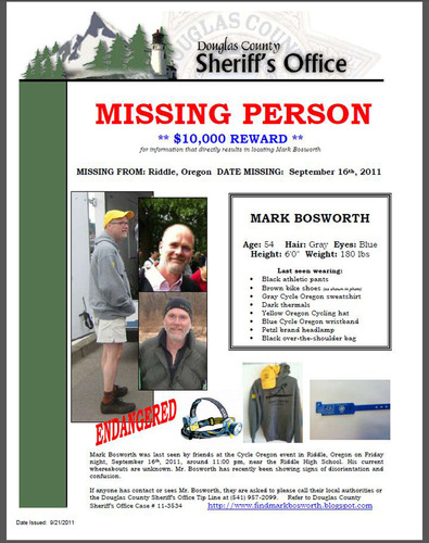 Deckers Outdoor Corporation Offers $10,000 Reward to Locate Missing Friend and Cycle Oregon