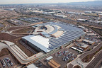 Phoenix Sky Harbor International Airport dedicates 5.4-MW SunPower solar power system, which is expected to save $4.7 million in electricity costs over the next 20 years.  (PRNewsFoto/SunPower Corp.)