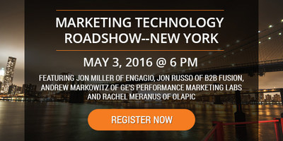 Marketing Technology Roadshow in NYC hosted by MarcomCentral featuring industry leaders and top CMOs.