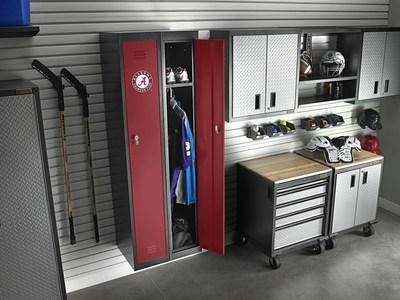 Gladiator GarageWorks is showcasing new PrimeTime Lockers at the International Builders' Show this week in Las Vegas