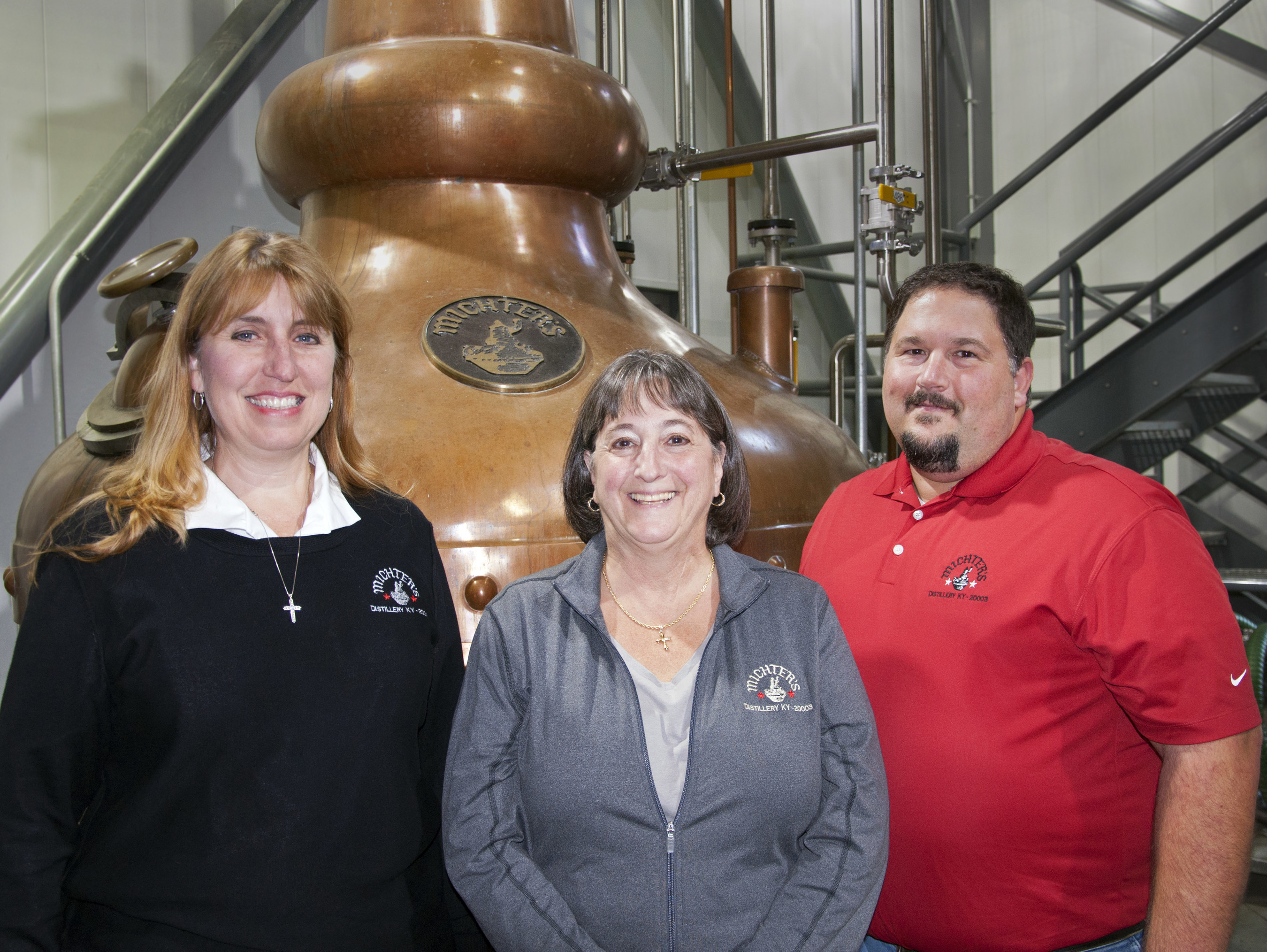 (From left to right) Andrea Wilson, Michter's Master of Maturation & Vice President - General Manager, Pamela Heilmann, Michter's Master Distiller & Vice President - Production, and Dan McKee, Michter's Distiller