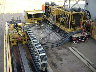 Million LBS Horizontal Directional Drilling rig being repaired at PDI.  (PRNewsFoto/Power Dynamics LLC)