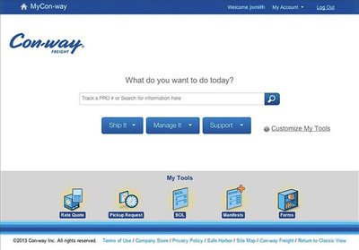 MyCon-way.com. (PRNewsFoto/Con-way Freight) (PRNewsFoto/CON-WAY FREIGHT)