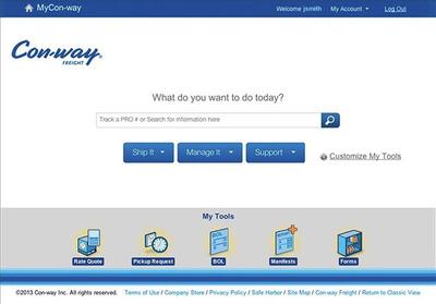 MyCon-way.com.  (PRNewsFoto/Con-way Freight)