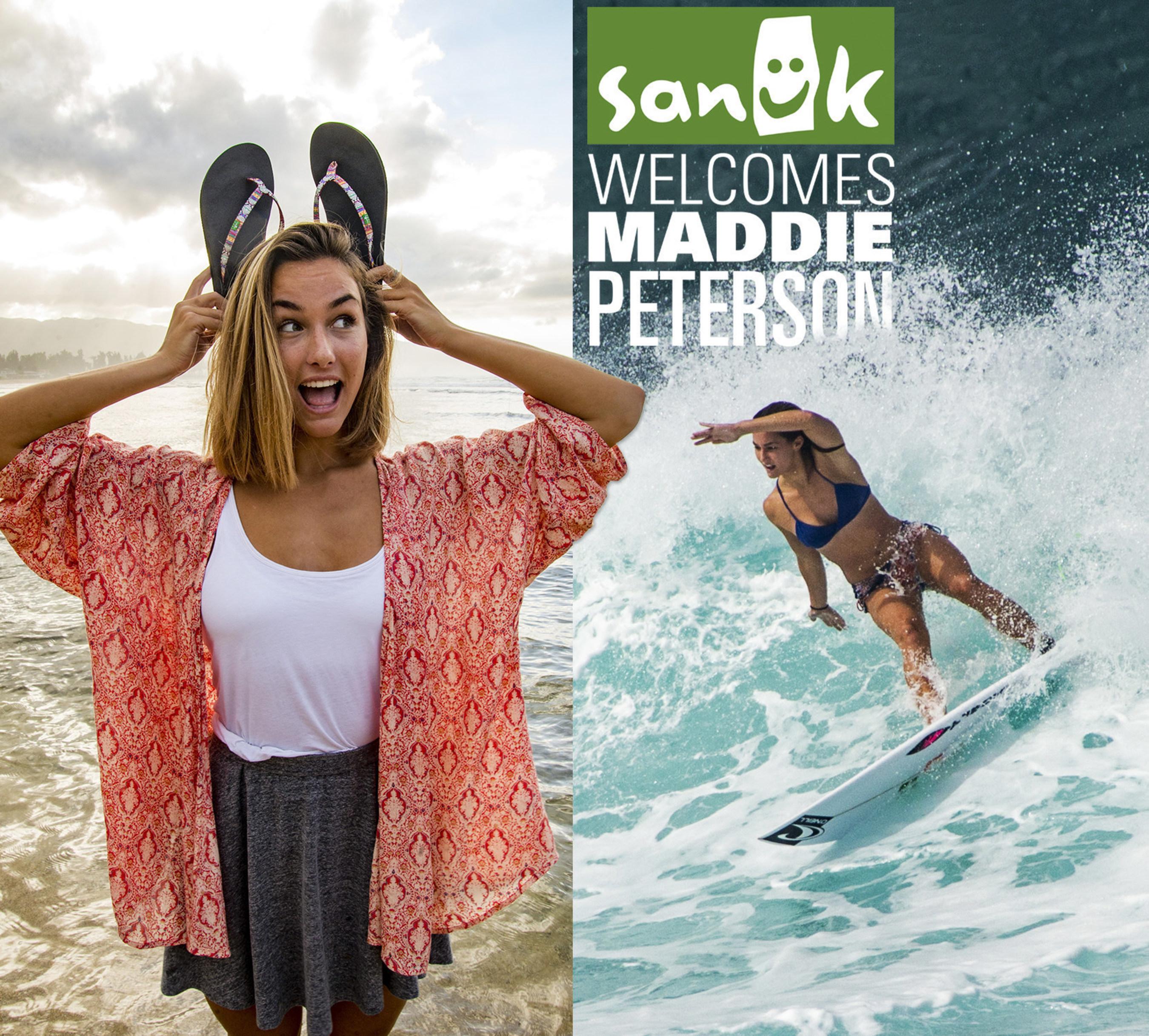 Sanuk Welcomes Surf Sensation Maddie Peterson to Women's Ambassador Program