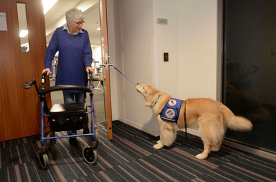 Accident Fund Employee Serves as Face of Annual Paws With A Cause Fundraising Campaign. (PRNewsFoto/Accident Fund Holdings)