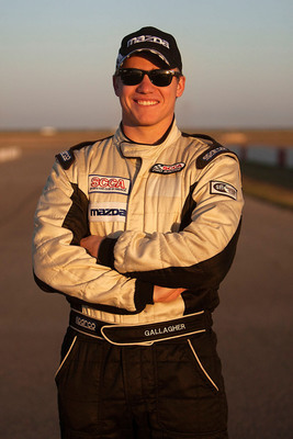 2012 Shootout winner Patrick Gallagher.  (PRNewsFoto/Mazda Motorsports)